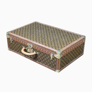 Vintage Leather Suitcase from Louis Vuitton, 1950s