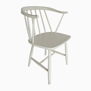 Chaise d'Appoint Vintage à Dossier à Barreaux par Yngve Ekström, 1950s