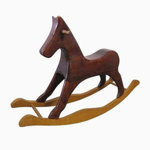 Vintage Dutch Handmade Rocking Horse, 1960s