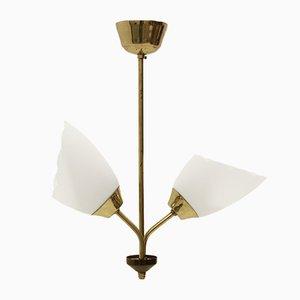 Lámpara de techo Mid-Century con pantalla doble