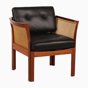 Danish Plexus Easy Chair in Mahogany by Illum Wikkelsø for C. F. Christensen, 1960s
