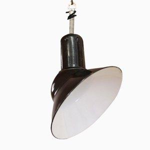 Lámpara de techo inclinada francesa vintage esmaltada