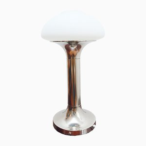 East German GDR Table Lamp in Opaline Glass from VEB Narva, 1970s DDR | GDR