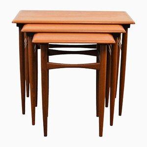 Tavolini a incastro vintage di Kai Kristiansen per Skovmand & Andersen