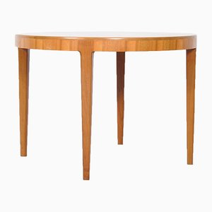 Mid-Century Round Danish Teak Coffee Table, 1960s