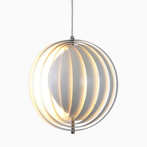 White Metal Moon Pendant by Verner Panton for Louis Poulsen, 1960s