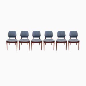 Mid-Century Teak Esszimmerstühle von Casala, 6er Set