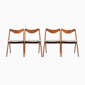 Chaises de Salle à Manger Vintage en Teck d'Albin Johansson & Sons, Suède, Set de 4