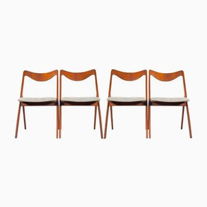 Vintage Swedish Teak Dining Chairs from Albin Johansson & Sons, Set of 4