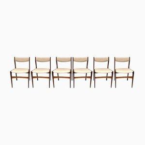 Dänische Vintage Palisander Esszimmerstühle, 6er Set