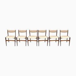 Vintage Danish Rosewood Dining Chairs, Set of 6