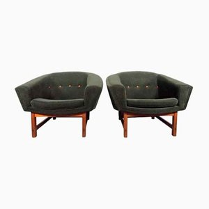 Mid-Century Corona Easy Chairs by Lennart Bender for Ulferts Möbler, 1950s, Set of 2