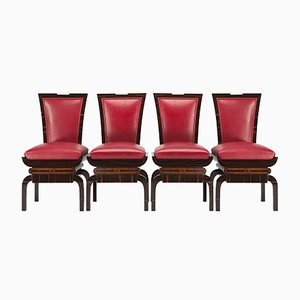 Chaises d'Appoint Art Deco, Set de 4
