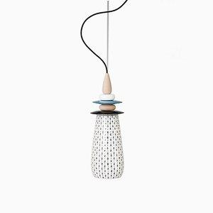Mini Weiße Forbidden Fruit Keramiklampe von Glimpt für Potters Workshop