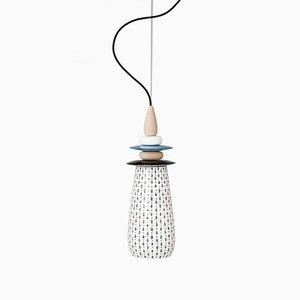 Petite Lampe Forbidden Fruit en Céramique Blanche par Glimpt pour Potters Workshop