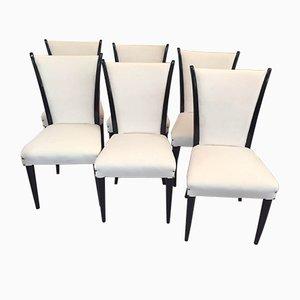 Italienische Art Deco Stühle, 1930er, 6er Set