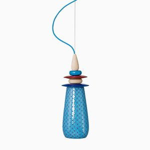Petite Lampe Forbidden Fruit en Céramique Bleue par Glimpt pour Potters Workshop