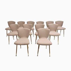 Sedie da pranzo Mid-Century di Louis Sognot per Arflex, set di 12