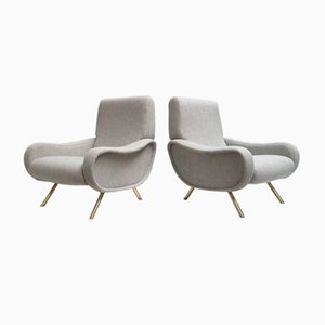 Mid-Century Lady Chairs by Marco Zanuso for Arflex, Set of 2