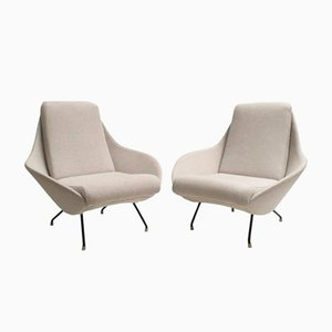 Italian Sculptural Lounge Chairs, 1950s, Set of 2