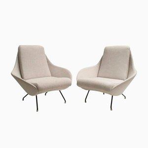 Skulpturale Italienische Sessel, 1950er, 2er Set