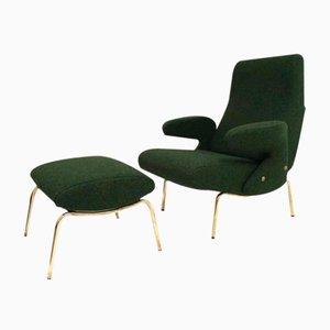 Fauteuil Lounge et Ottomane Delfino par Erberto Carboni pour Arflex, 1954
