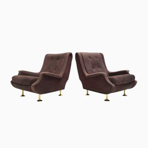 Nappa Leather Regent Chairs by Marco Zanuso for Arflex, 1960, Set of 2