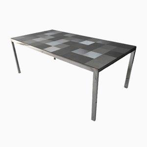 Tavolo da pranzo modello Luar Op Art in acciaio di Ross Littell per ICF, 1972