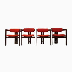 Pamplona Walnuss Stühle von Augusto Savini für Poggi, 1965, 4er Set