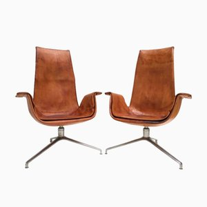 FK 6725 Tulip Chairs by Preben Fabricius & Jørgen Kastholm for Alfred Kill, 1964, Set of 2