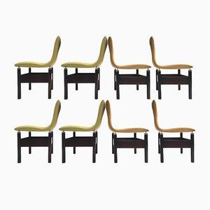 Sedie Chelsea vintage in palissandro di Vittorio Introini per Saporiti, set di 8