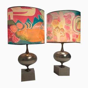 Vintage French Table Lamps by Philippe Barbier for Maison Barbier, 1970s, Set of 2