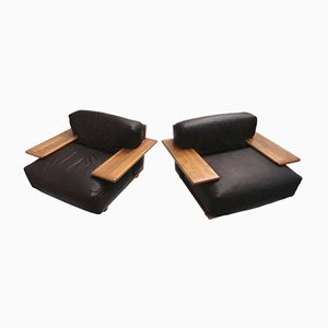Fauteuils Lounge Pianura par Mario Bellini pour Cassina, 1971, Set de 2