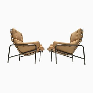 Vintage SZ09 Nagoya Leather Easy Chairs by Martin Visser for 't Spectrum, Set of 2