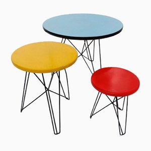Situationist IJorst Tables by Constant for Spectrum, 1950s, Set of 3