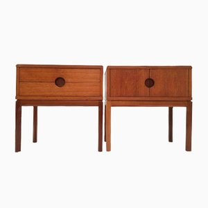 Teak Nightstands by Aksel Kjersgaard, 1960s, Set of 2