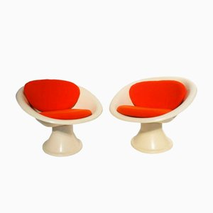 Französische Mecurio Sitze von Claude Courtecuisse für Steiner, 1967, 2er Set