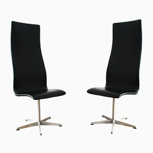 3172 Oxford Chairs by Arne Jacobson for Fritz Hansen, Set of 2