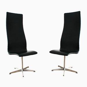 Chaises 3172 Oxford par Arne Jacobsen pour Fritz Hansen, 1970s, Set de 2