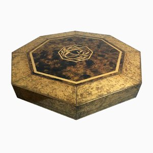 Acid Etched Brass Table by Bernhard Rohne for Mastercraft, 1970s