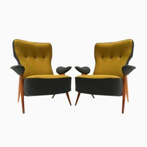 Fauteuils Model 105 Hair Pin par Theo Ruth pour Artifort, 1957, Set de 2