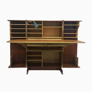 Mid-Century Cabinet with Fold-Out Desk by Mummenthaler & Meier