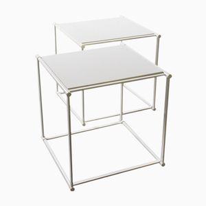 Tables Cube par Radboud Van Beekum pour Pastoe, 1980s, Set de 2