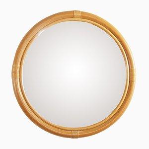 Specchio vintage in vimini