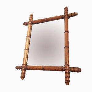 Espejo de madera esculpida, años 40