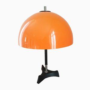 Italienische Orangefarbene Tischlampe, 1950er
