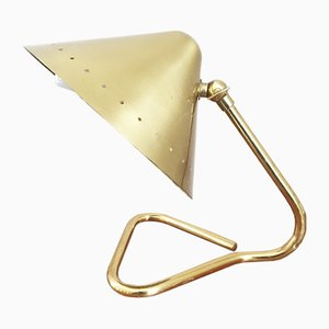 Golden Danish Desk Lamp, 1960s