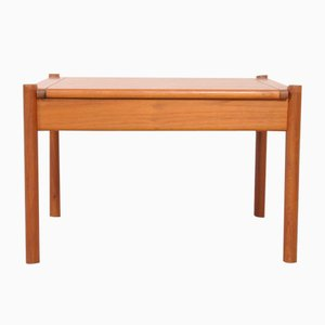 Vintage Danish Teak Coffee Table with Rounded Edges