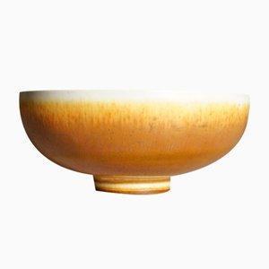 Braune Mid-Century Schale aus Keramik von Berndt Friberg für Gustavsberg, 1965