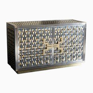 Mueble Intreccio de acero, hierro y latón de Franco Mariotti para Edizioni Flair, 2017